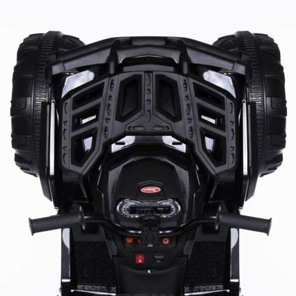 Электроквадроцикл Grizzly 2WD BDM0906 черный (колеса резина, кресло кожа, пульт, музыка)