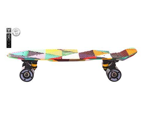 "401G-T Скейтборд Y-SCOO Fishskateboard Print 22"" винил 56,6х15 с сумкой Triddent"