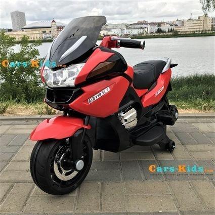 Электромотоцикл BMW R1200RT красный 12V - HZB-118 (колеса резина, кресло кожа, музыка, ручка газа)