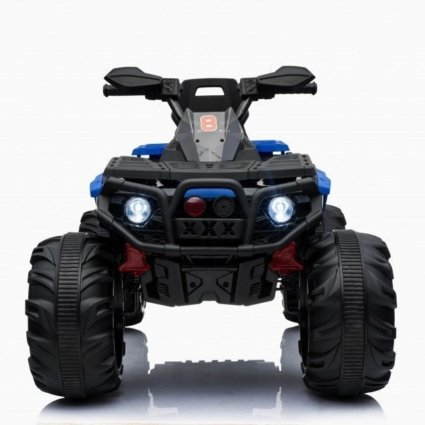 Электроквадроцикл Maverick ATV 4WD синий (полный привод, колеса резина, кресло кожа, музыка)