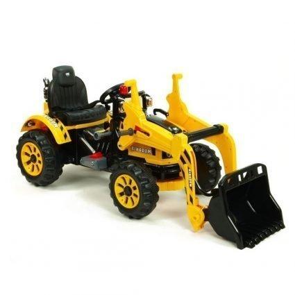Детский электромобиль трактор на аккумуляторе 12V / желтый - JS328A-Y
