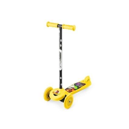 Трехколесный самокат самый легкий и доступный Small Rider Cosmic Zoo Scooter ЖЕЛТЫЙ от 2 до 6 лет