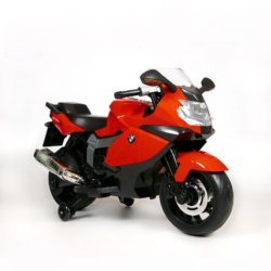 Детский электромотоцикл BMW K1300S 12V - Z283 красный (колеса резина, музыка, ручка газа)