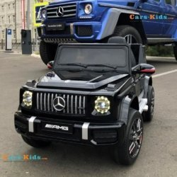 Электромобиль Mercedes Benz G63 BBH-0002 черный (колеса резина, кресло кожа, пульт, музыка)