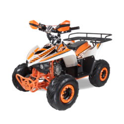 Детский квадроцикл бензиновый MOTAX ATV MIKRO 110 cc бело- оранжевый (пульт контроля, электростартер, до 45 км/ч)